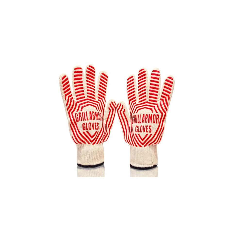 Grill Armor 932°F Extreme Heat Resistant Oven Gloves   EN407 Certified BBQ Gloves For Cooking, Grilling, Baking