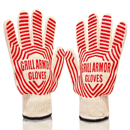 Sale!! The Best BBQ & Oven Gloves Withstand Heat Up To 662F - Top Quality Heat Resistant Grill G...