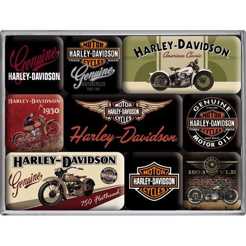 nostalgic-art-83037-harley-davidson-bikes-magnet-set-9-teilig