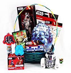 \'Happy Easter May the Force Be with You\' Star Wars Easter Gift Basket with a Darth Vader Bunny