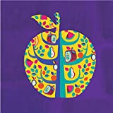 Chumbak Square Archival Paper Small Square Apple Purple Art Print