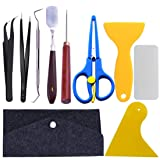 10 Pieces Craft Vinyl Weeding Tools Stainless Steel Precision Craft Basic Set Craft Vinyl Tools for Weeding Vinyl, HTV, Lettering (Color: A-9 pieces)