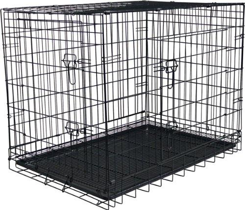 "27.5""H Folding Steel Pet Kennel front-756961"