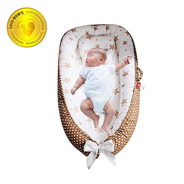 FOONEE Baby Lounger Nest Newborn Cover Changeable Lounger Portable Co-Sleeping Cribs /& Cradles The All in One Baby Lounger