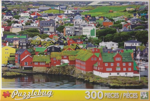 Puzzlebug 300 Piece Puzzle ~ The Tinganes Historic District in Torshavn - 1