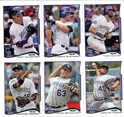 2012, 2013 & 2014 Topps Colorado Rockies Baseball Card Team Sets (Complete Series 1 & 2 From All Three Years )