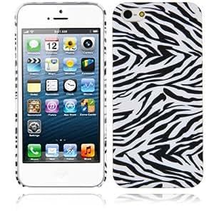 Cadorabo ® ! Apple Iphone 5/ 5G / 5S Hard Cover Zebra Leo Look Black White