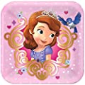 Disney Junior Sofia the First Deluxe Party Supply Pack Including Plates, Cups, Napkins and Tablecover for 16 Guests