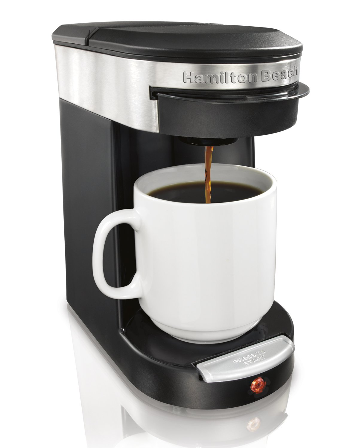 Easy One Cup Coffee Maker : NEW! Fresh Coffee Maker 1 Cup Brewer by Hamilton Beach Fast Easy Clean Kitchen eBay