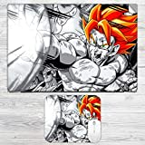 DBZ Goku Laptop Skin + Mousepad Combo For All HP, DELL, ASUS, SONY, SAMSUNG, ACER Laptops Upto 15.6-inch Screen Size. 2mm Rubber Speed Edition Gaming Mouse Pad For All Wireless Gaming, Laser And Optical Mouse.HP, DELL, ASUS, SONY, SAMSUNG, ACER Laptops Up