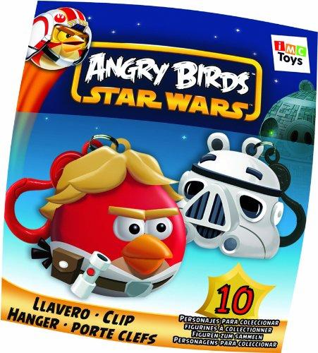 Porte-Clés Angry Birds Star Wars Luke Skywalker ou Storm Trooper (Modèle aléatoire)