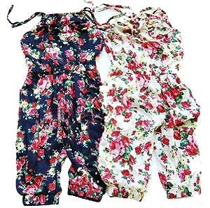 Urparcel Toddler Girl Kids Jumpsuit Short Summer Playsuit Rompers One-piece 2-8Y