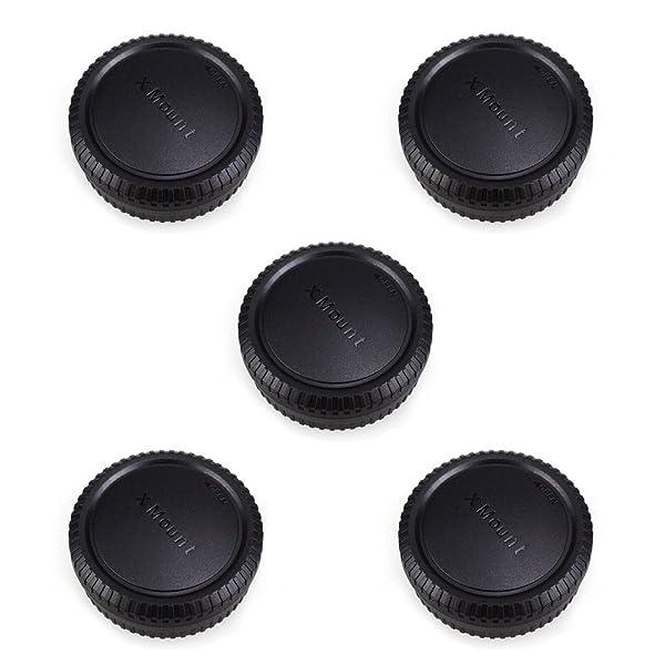 Rear Lens Cap & Body Cap JJC Rear Lens Cover Body Cover for Fuji Fujifilm X-T30 X-T20 X-T10 X-T3 X-T1 X-T2 X-PRO1 X-PRO2 X-A10 X-A5 X-A3 X-A2 X-A1 X-H1 X-E3 X-E2s X-E2 X-E1 Fit Fujifilm X Mount -5Pack (Color: 5 Pack)