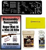 AGI DVD Disassembly Course Ruger Mini-14 & Mini-30 Rifles + Ultimate Arms Gear Bench Gun Mat + Gun Wash + Silicone Cloth + Wipes