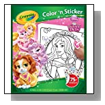 Crayola Disney Palace Pets Color 'n Sticker Books