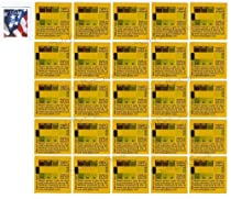 Radstickers - Lot of 25 - Simple Radiation Detection Sticker - Be Prepared & Survive