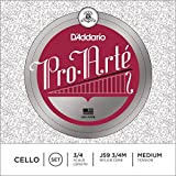 D\'Addario Bowed Jeu de cordes pour violoncelle D\'Addario Pro-Arte, manche 3/4, tension Medium
