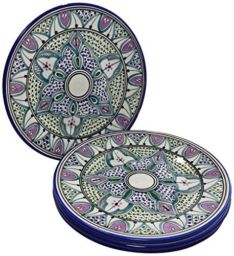 Le Souk Ceramique Malika Design Dinner Plates, Set of 4