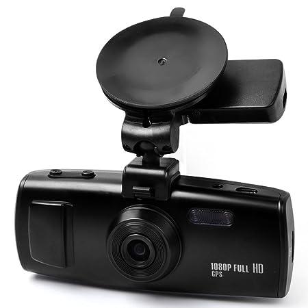 E-PRANCE 3H2F GS6000 Ambarella A7 Caméra de voiture avec haute résolution super HD 2304x1296p 30 img/s WDR Enregistreur de données GPS Accéléromètre Incrustation de la plaque d'immatriculation LED pour vision noct