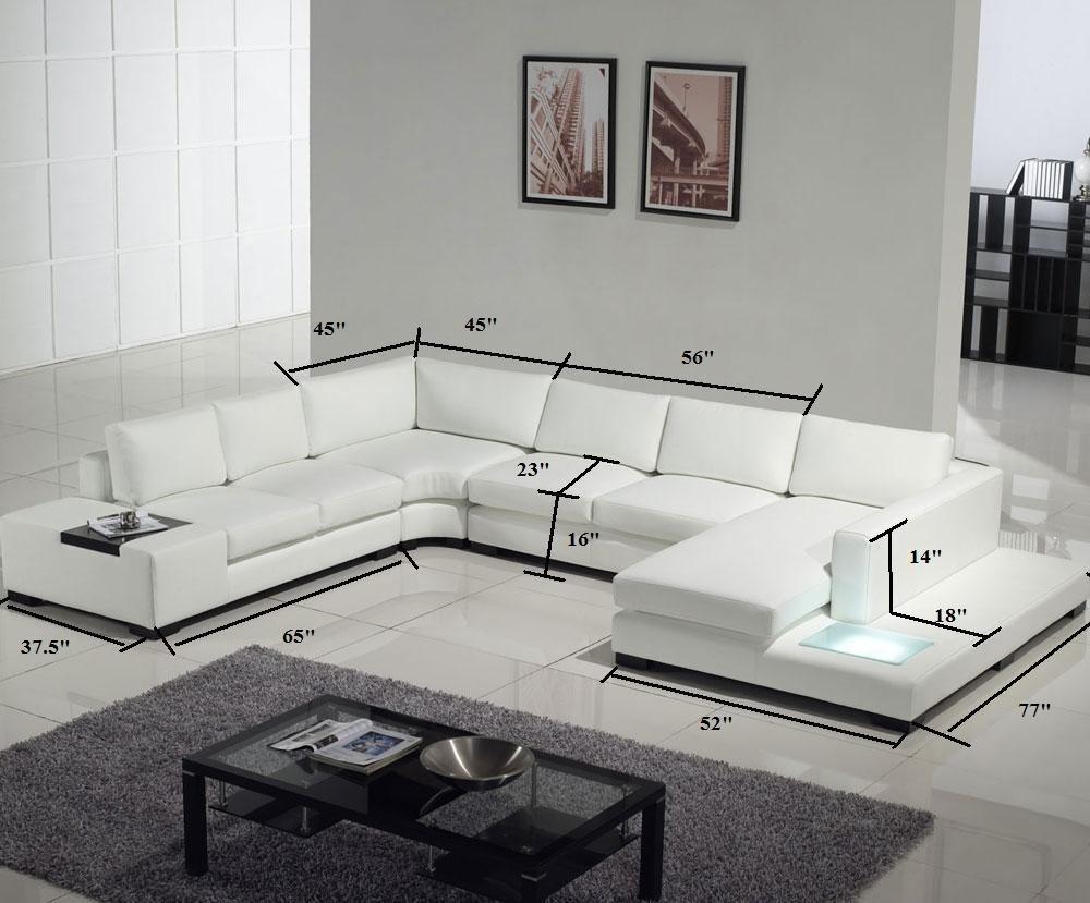Modern Black Leather Sectional Living Room Furniture