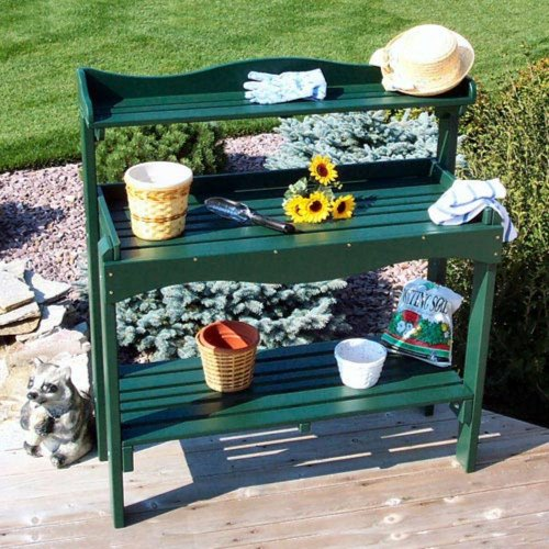 Prairie Leisure Prairie Leisure Gardeners Aspen Wood Potting Bench, Unfinished, Wood, 47L x 19W x 52H in.