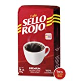 2LB Sello Rojo Coffee   Smooth and Flavorful Low Acidity Coffee with no Bitter Aftertaste or Heartburn   Medium Roast Ground Colombian Coffee   Cafe de Colombia (Color: 2-Brick-Red, Tamaño: 2-Pack)