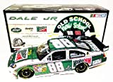 AUTOGRAPHED 2008 Dale Earnhardt Jr. #88 Mountain Dew Retro OLD SCHOOL / NEW SCHOOL 1/24 Action NASCAR Diecast Car