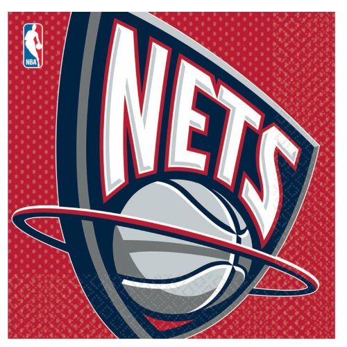 New Jersey Nets Basketball - Lunch Napkins Party Accessory by Unknown - 1