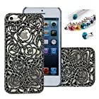 Cocoz® New Releases Romantic Black Roses Carved Palace Fashion Design Hard Case Cover Skin Protector for Iphone 5 At&t Sprint Verizon Retail Packing(pc) -H001