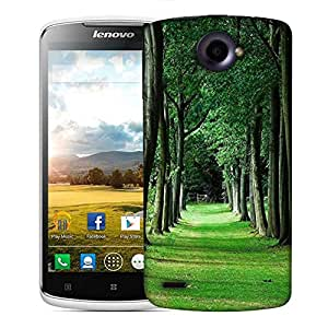 Snoogg Walking Way In Forest Designer Protective Phone Back Case Cover For Lenovo S920