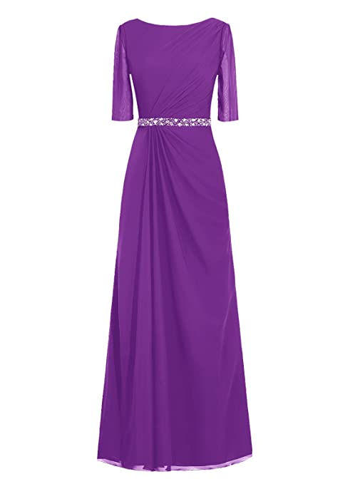 Dresstells® Long Prom Dress Jewel Bridesmaid Dress Chiffon Mother Evening Gown Purple Size 20W