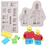 PROKITCHEN Silicone Building Bricks Robots Fondant Model DIY Cake Baking Chocolate Model for Sugarcraft, Cake Border Decoration, Cupcake Topper (Color: robot model)