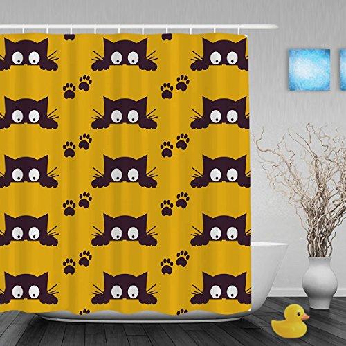 Guazzo Alberi Decor Bagno Doccia Tenda Cute per tende da doccia impermeabile muffa poliestere tessuto 152,4x 182,9cm Inch, Multi8, 72(length) X 36(width)