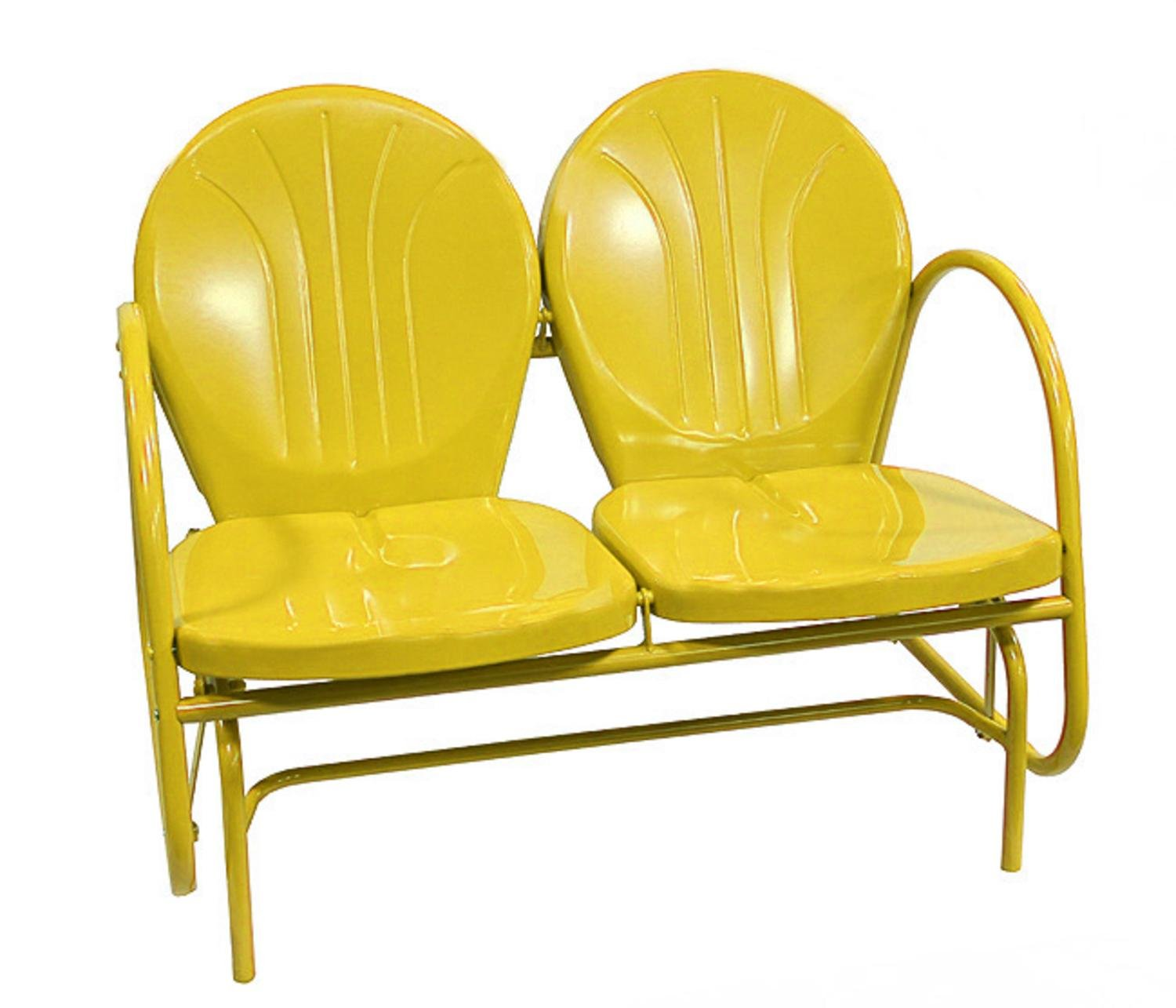 Sunshine Yellow Retro Metal Tulip Double Glider