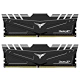 TEAMGROUP T-Force Dark Za (Alpha) (for AMD Ryzen) 32GB Kit (2 x 16GB) 3600MHz (PC4-28800) CL 18 288-Pin DDR4 SDRAM Desktop Gaming Memory Module Ram - Black - TDZAD432G3600HC18JDC01 (Color: Black, Tamaño: 3600MHz for AMD 32GB (2x16GB))