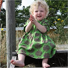 6 - 12 Month Girls Green Apple Dress