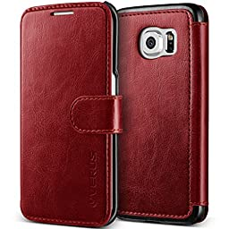 Galaxy S6 Edge Case, Verus [Layered Dandy][Wine Red] - [Premium Leather Wallet][Slim Fit] For Samsung Galaxy S6 Edge
