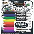 Sanford Stained By Sharpie Fabric Markers 8/Pkg Assorted…