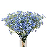 Kaimao 9 Pcs Artificial Gypsophila Flower / Fake Beautiful Flower for Wedding Party Home Decoration - Blue