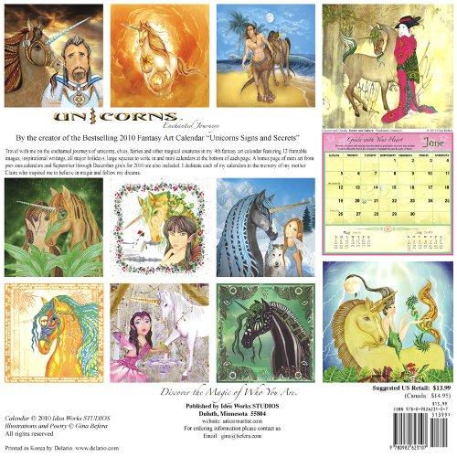 Unicorns Enchanted Journeys 2011 Calendar