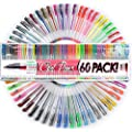 Top Quality Gel Pens - Set of 60 Individual Colors with Case