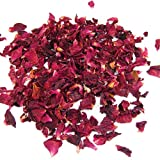 TOOGOO(R) 1 Bag of Dried Rose Petals Flowers Natural Wedding Table Confetti Pot