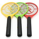 Mosquito Killer Bat,Hongxin Mosquito Flies Killer Electric Tennis Bat Handheld Racket Insect Fly Bug Wasp Swatter Home Office Bugs Killer Mosquito Swatter (B) (Color: B)