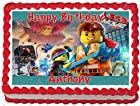 The Lego Characters Photo Image Cake Topper - 1/4 Sheet