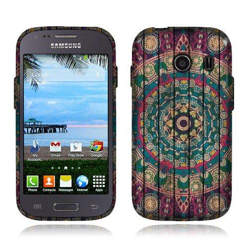 NextKin Samsung Galaxy Ace Style S765C Stardust S766C Case, Flexible Slim Silicone TPU Skin Gel Soft Protector Cover - Bohemian Blue Mandala Wooden (Galaxy Ace Style Silicone Case compare prices)