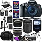 Canon EOS Rebel T5i Digital SLR Camera Body with EF-S 18-135mm IS STM + Polaroid 58mm Wide Angle and 58mm Telephoto Lenses + 32 GB Storage + Tripods + 4 Filters + Deluxe Bag + Extra Accessories