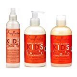 Shea Moisture Kids Hair Care Combination Pack – Includes Mango & Carrot 8oz KIDS Extra-Nourishing Shampoo, 8oz KIDS Extra-Nourishing Conditioner, and 8oz Coconut & Hibiscus KIDS Detangler