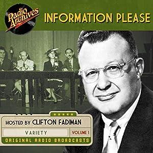 Information Please, Volume 1 Radio/TV Program
