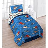 Disney Planes 4-Piece Reversible Twin Bedding Set with Bonus Tote