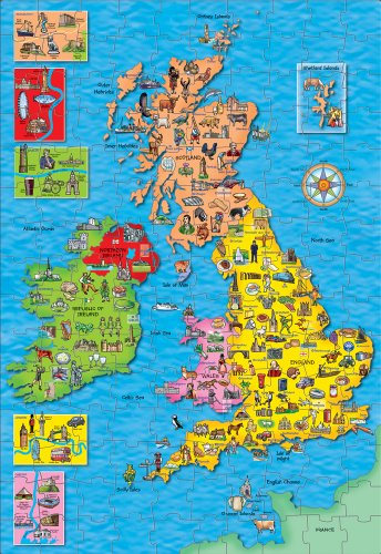 (Orchard Toys Great Britain & Ireland Map Puzzle and Poster from Kids )